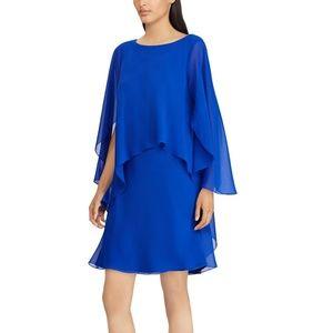 Lauren Ralph Lauren Petites Chiffon Overlay Dress